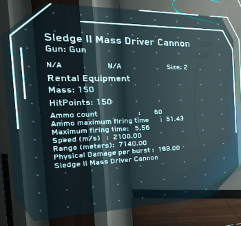 MtheFGames.de | Star Citizen | Sledge II Mass Driver Cannon | © Cloud Imperium Games & Co.