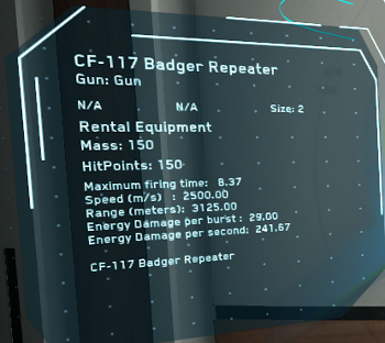 MtheFGames.de | Star Citizen | Laser Repeater CF-117 Badger Repeater  | © Cloud Imperium Games & Co.