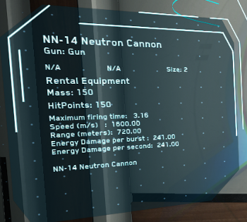 MtheFGames.de | Star Citizen | NN-14 Neutron Cannon | © Cloud Imperium Games & Co.